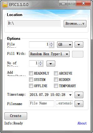 EFIC设置界面